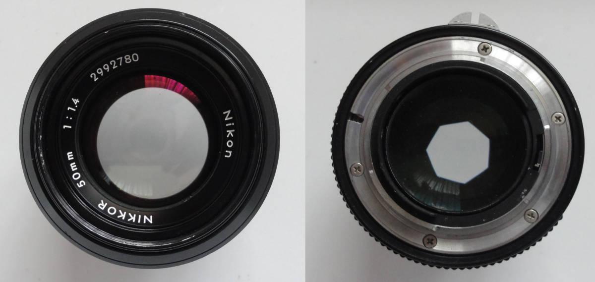 ニコンFブラックボディーフォトミックファインダーFTn付き、標準レンズの外観が大きい50mmF1.4のNikkor付き_画像10