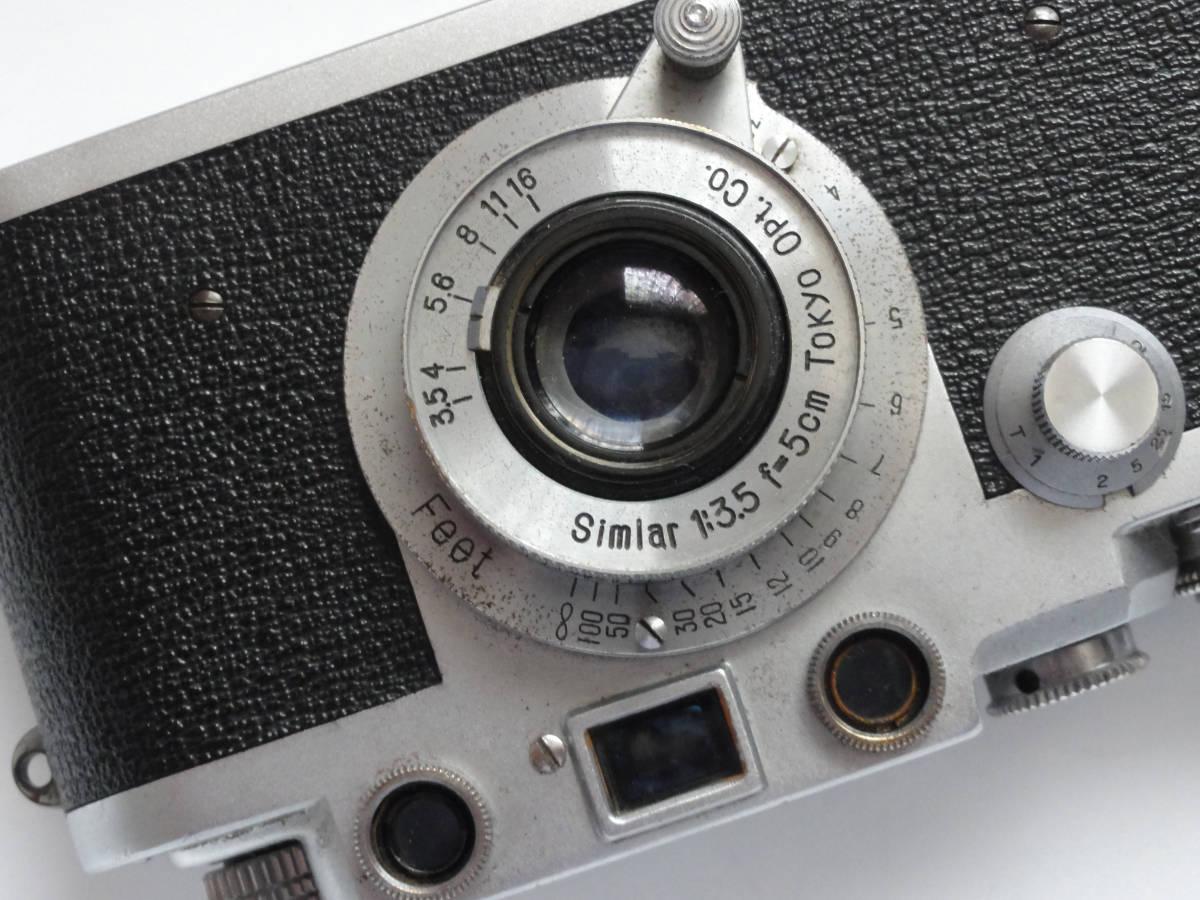 アンティークなニッカ3Fと東京光学のSimiar5cmF3.5沈胴式レンズ付き