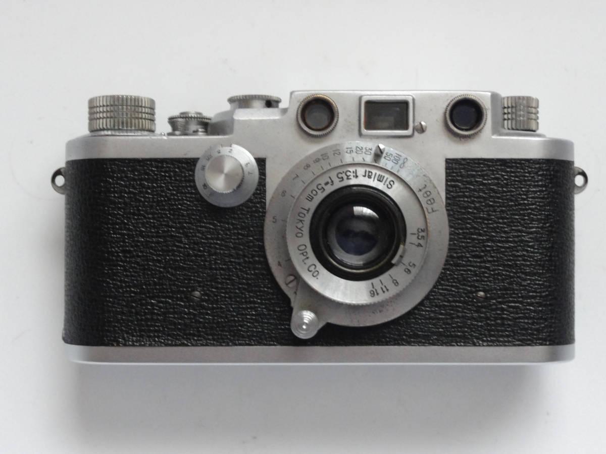 アンティークなニッカ3Fと東京光学のSimiar5cmF3.5沈胴式レンズ付き_画像2