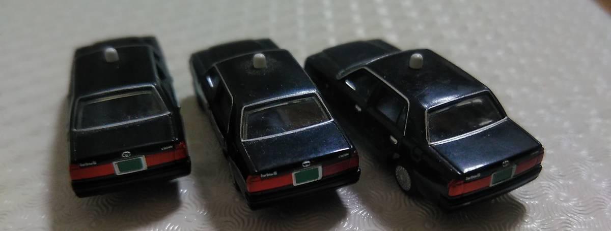 【トミーテック】 カーコレクション 12弾 クラウン コンフォート タクシー 日本交通 黒 3台_画像2