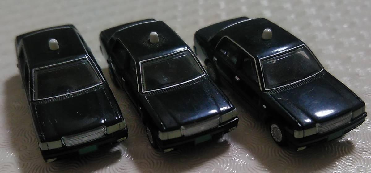 【トミーテック】 カーコレクション 12弾 クラウン コンフォート タクシー 日本交通 黒 3台