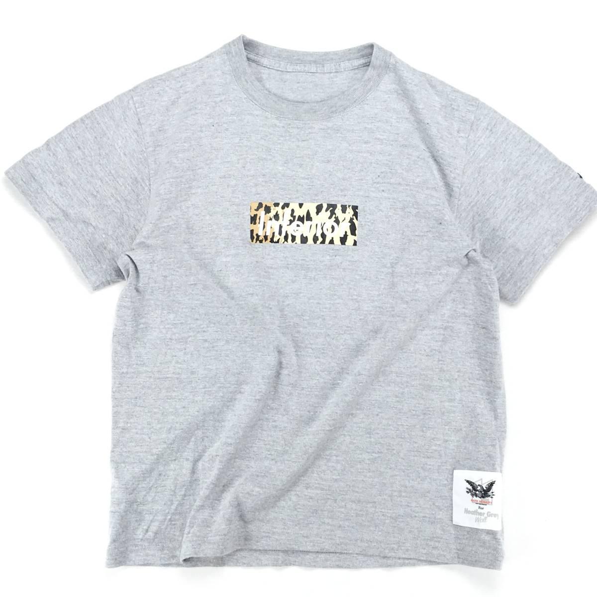 希少!【MARK MCNAIRY マークマクナイリー】BOXロゴ「Inferior」半袖Tシャツ S ライトグレー 日本製_画像1