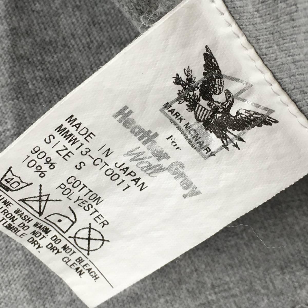 希少!【MARK MCNAIRY マークマクナイリー】BOXロゴ「Inferior」半袖Tシャツ S ライトグレー 日本製_画像3