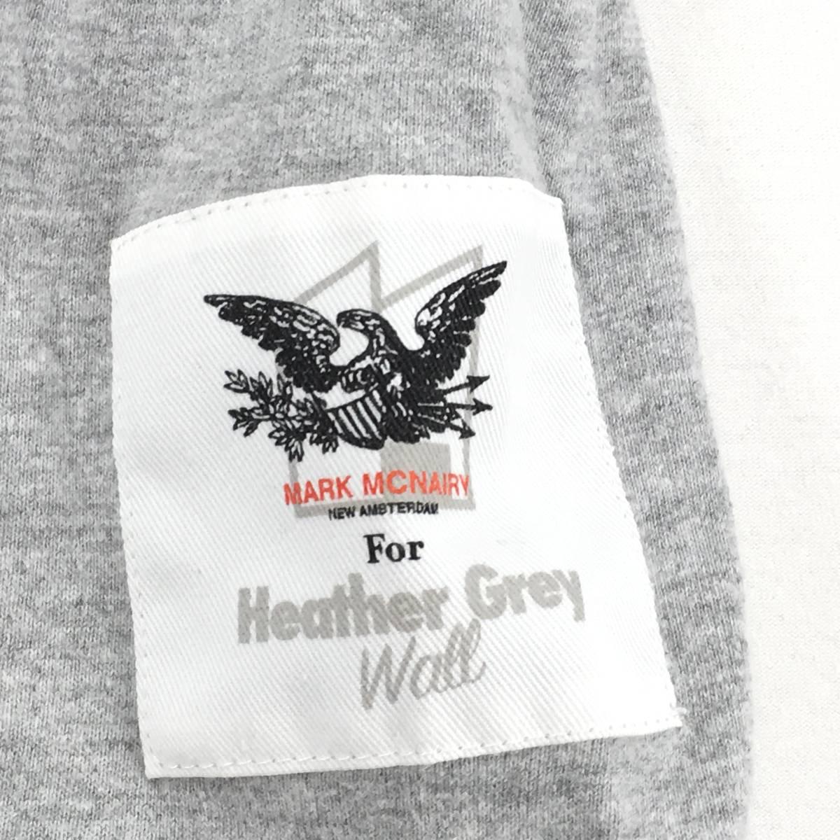 希少!【MARK MCNAIRY マークマクナイリー】BOXロゴ「Inferior」半袖Tシャツ S ライトグレー 日本製_画像5