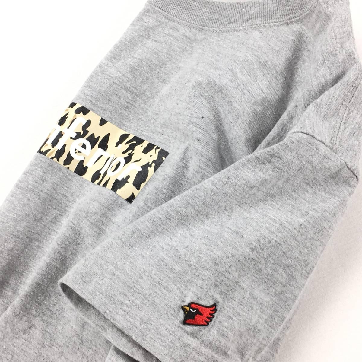希少!【MARK MCNAIRY マークマクナイリー】BOXロゴ「Inferior」半袖Tシャツ S ライトグレー 日本製_画像6