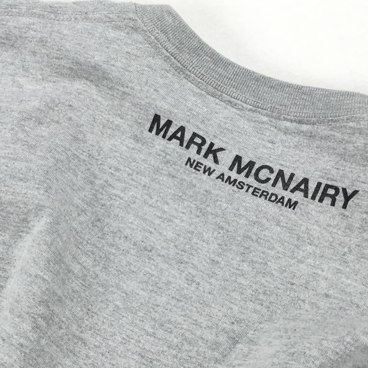 希少!【MARK MCNAIRY マークマクナイリー】BOXロゴ「Inferior」半袖Tシャツ S ライトグレー 日本製_画像7