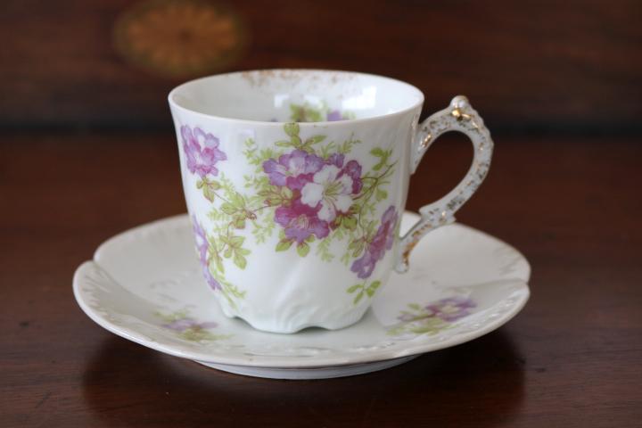 ■ リモージュのアンティーク、コーヒーカップ&ソーサー ■_画像1