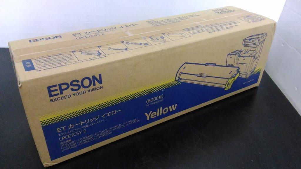 新品未開封 EPSON エプソン LP-9000C等用 純正 ET トナーカートリッジ LPCETC5Y E イエロー_画像1