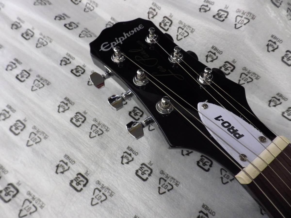 新品・即決 EPIPHONE エピフォン エレキギターセット PRO-1 LES PAUL JR PACK VS レスポールジュニア パック _画像3