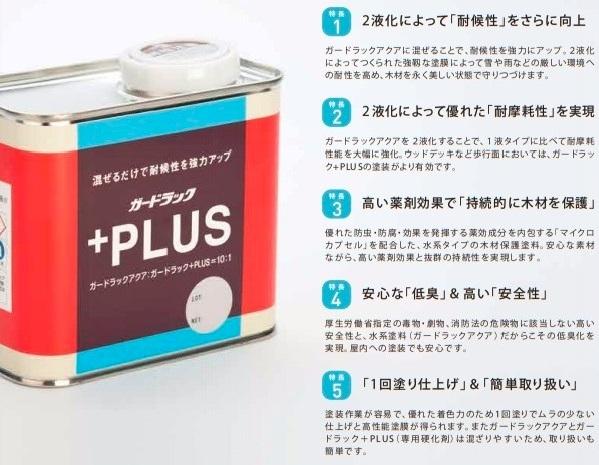 送料込み ガードラックアクアの機能強化 添加剤「ガードラック+PLUS 0.35㎏」取り寄せ商品 和信化学工業_画像2