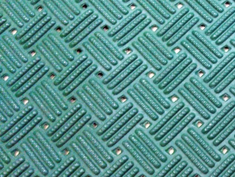 ノンスリップマット半端 約330mm幅x1mより小切します「トーワ ダイヤマットグリッド グリーン」_画像2