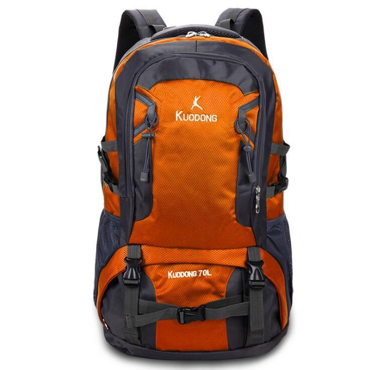 アウトドア用品 登山 旅行 リュックサック バックパック 防水 70L 大容量 オレンジ