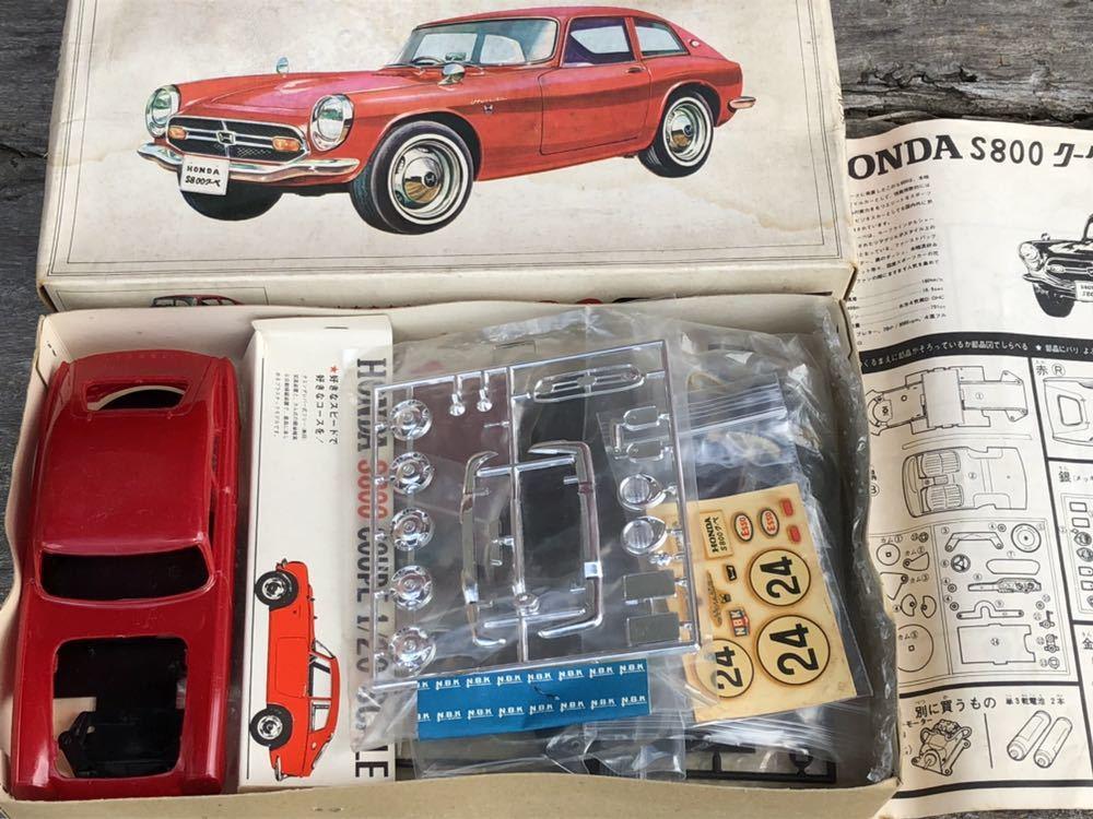 【委託品・着払いのみ】NBK 1/20 ホンダ S800 クーペ ジャンク扱い 日本文化教材社_画像2
