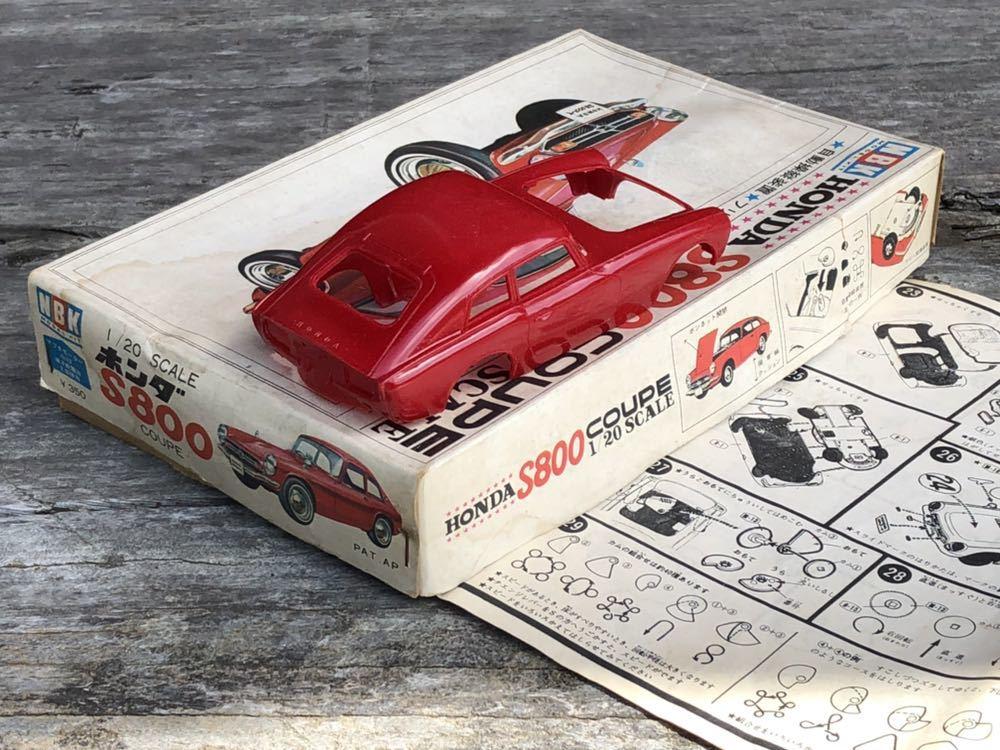 【委託品・着払いのみ】NBK 1/20 ホンダ S800 クーペ ジャンク扱い 日本文化教材社_画像10