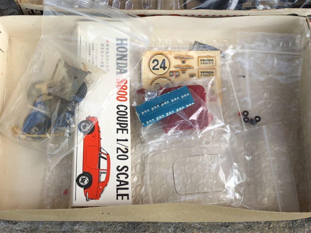 【委託品・着払いのみ】NBK 1/20 ホンダ S800 クーペ ジャンク扱い 日本文化教材社_画像7