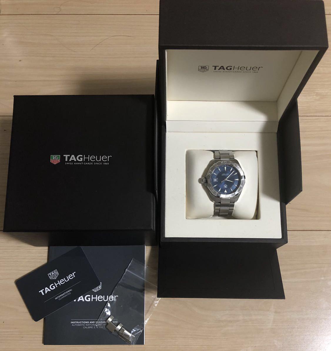腕時計 タグ・ホイヤー アクアレーサー 防水 メンズ WAY1112【人気のブルー】_画像3