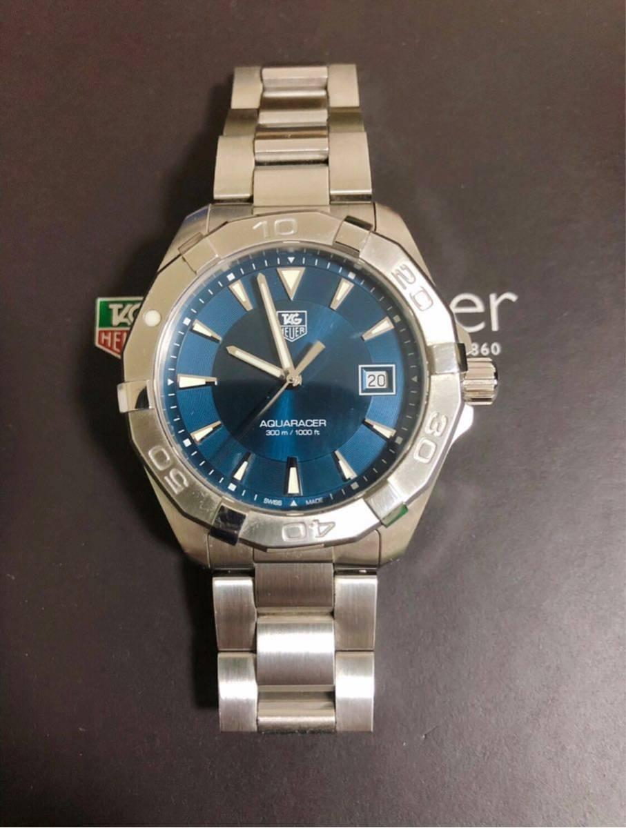 腕時計 タグ・ホイヤー アクアレーサー 防水 メンズ WAY1112【人気のブルー】