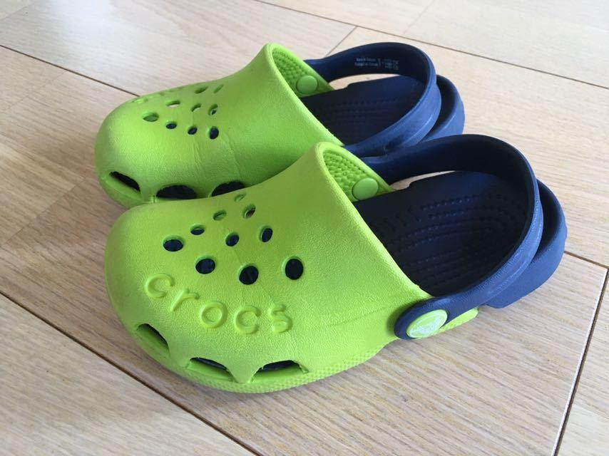 dc614a3a8747c5 代購代標第一品牌- 樂淘letao - クロックスCROCS キッズサンダルC10 17.5cm グリーン子供シューズ靴送料340円~