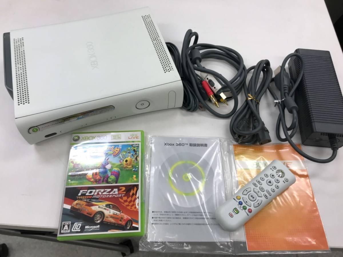 ★Microsoft XBOX360 本体・リモコン・HDD250GB・各ケーブル・ゲームソフト付 コントローラ無 元箱劣化 中古 動作品  _画像3