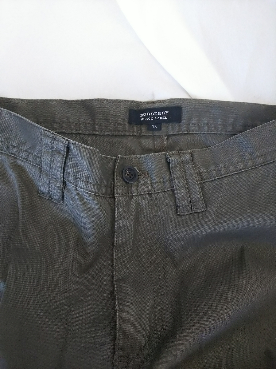 BURBERRY BLACK LABEL バーバリーブラックレーベル カーゴ カジュアルパンツ パンツ カーキ グリーン 系 サイズ 73 メンズ バーバリー _BURBERRY BLACKLABEL