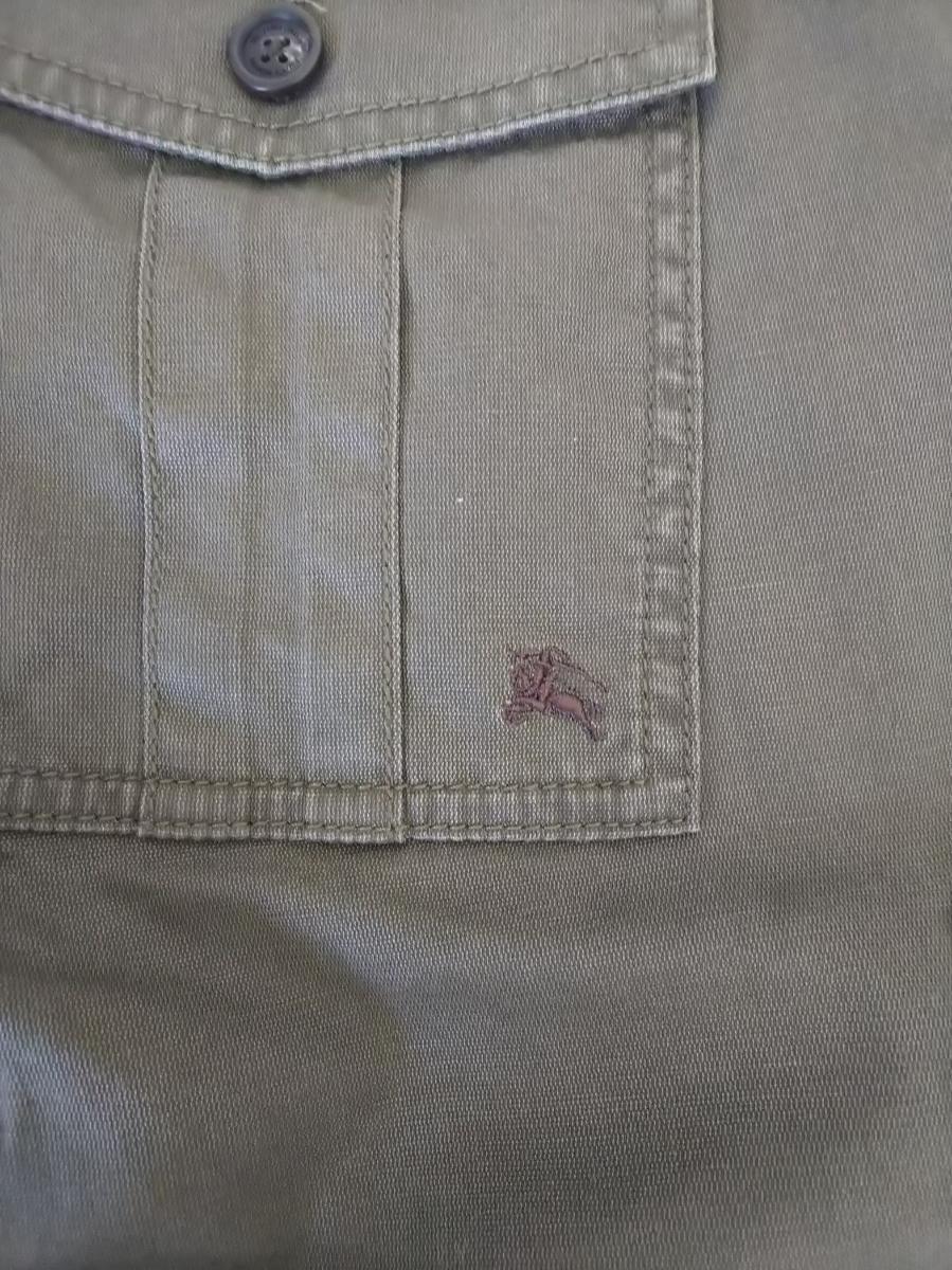 BURBERRY BLACK LABEL バーバリーブラックレーベル カーゴ カジュアルパンツ パンツ カーキ グリーン 系 サイズ 73 メンズ バーバリー _画像5