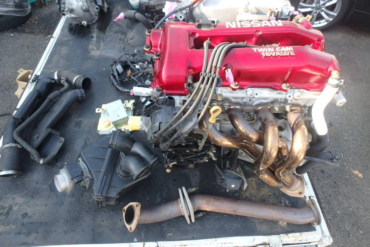 S15 シルビア オーテックバージョン 専用チューン SR20DE エンジン エキマニ ハーネス ECU クラッチ 異音無しで好調でした!