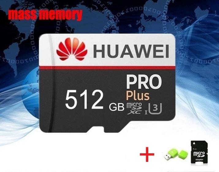 1円~!送料込み!HUAWEI 512GB microマイクロSD sdhc SDカードアダプターUSBカードリーダーオマケ付き♪パッケージ未開封新品 _画像3