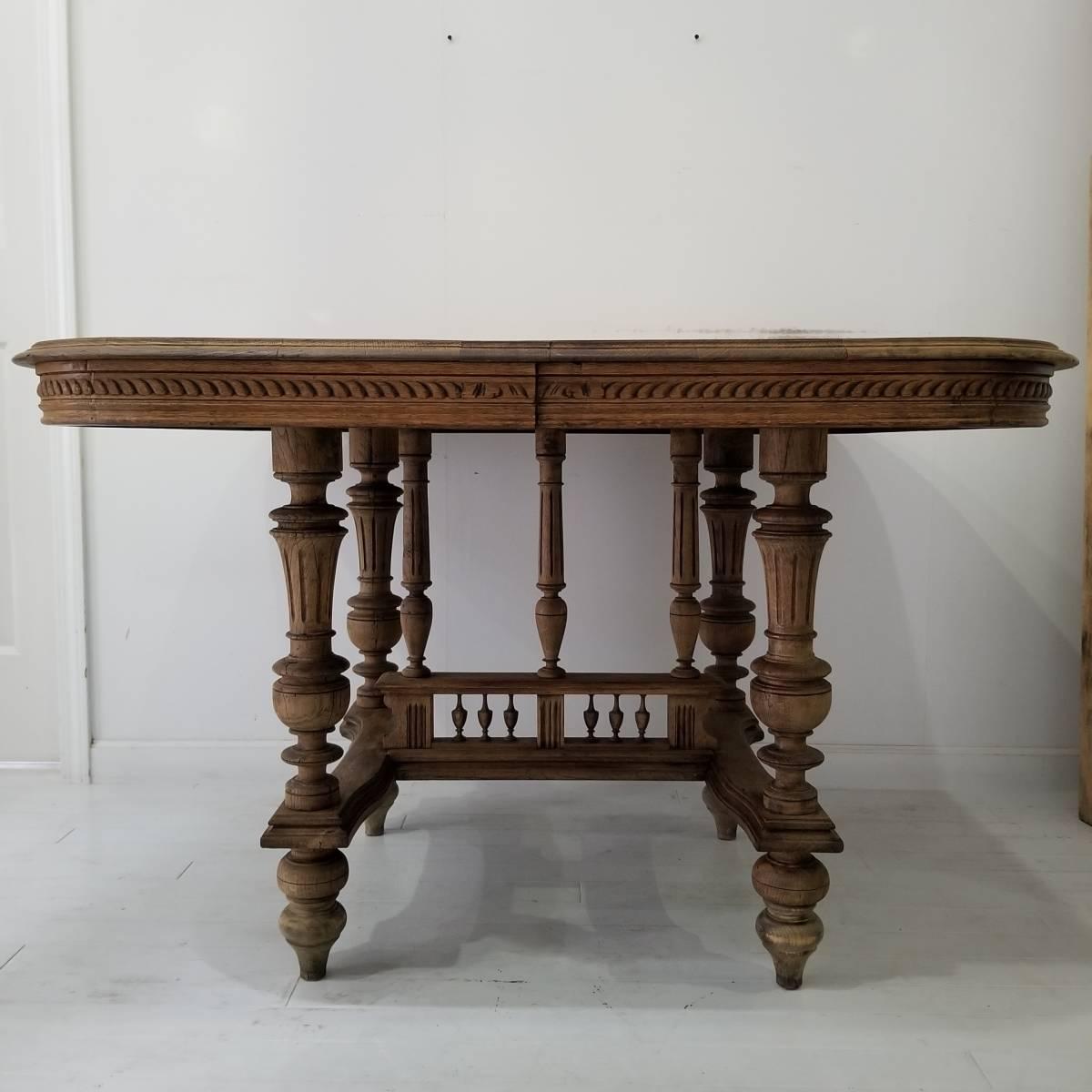 アンティーク 枯れた木味の雰囲気が素敵なアンリ二世 ダイニングテーブル シャビーシック フランス ヴィンテージ ブロカント _画像2