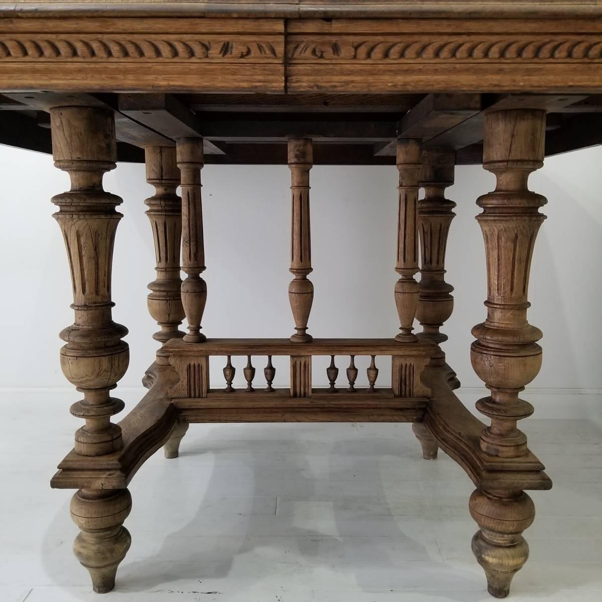 アンティーク 枯れた木味の雰囲気が素敵なアンリ二世 ダイニングテーブル シャビーシック フランス ヴィンテージ ブロカント _画像7