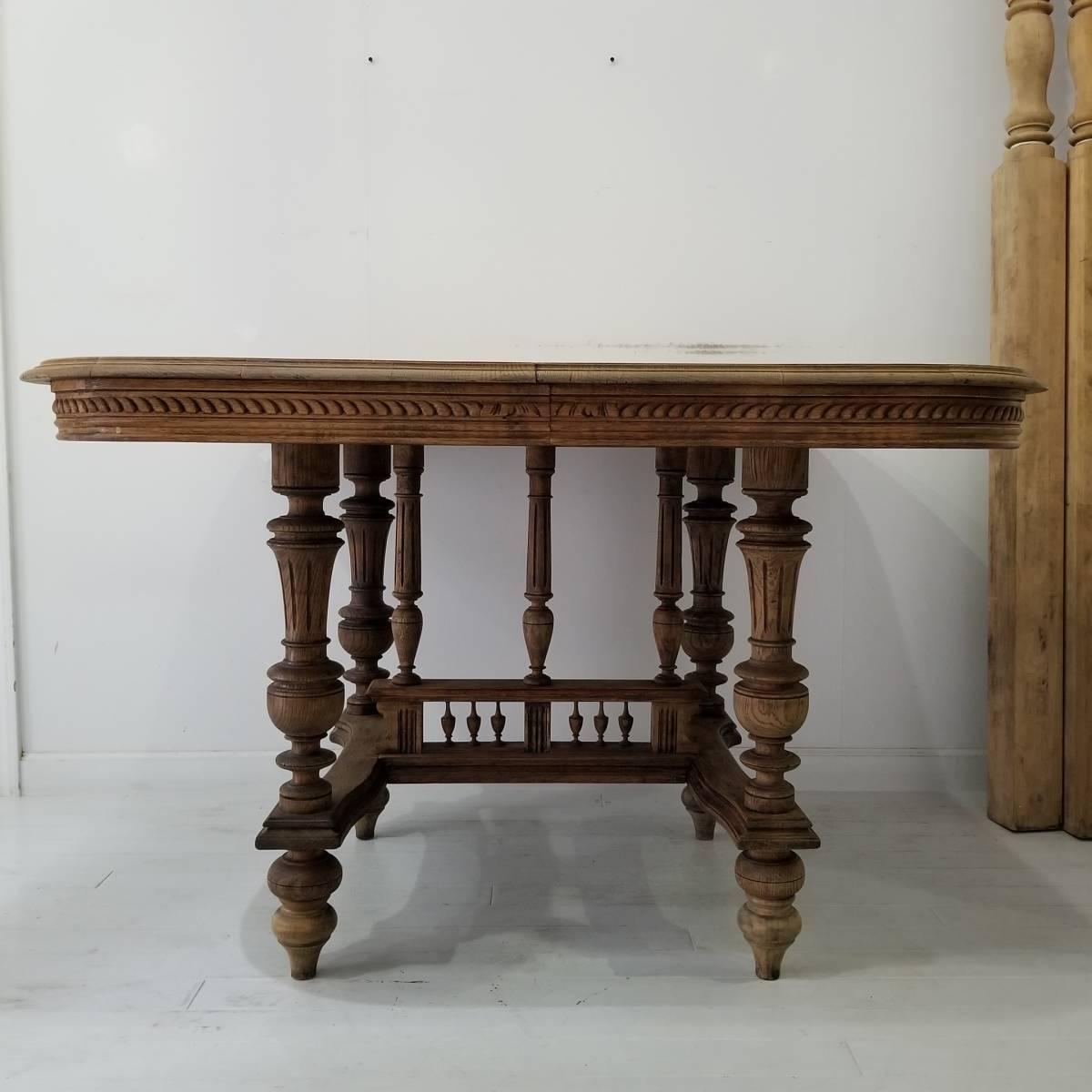 アンティーク 枯れた木味の雰囲気が素敵なアンリ二世 ダイニングテーブル シャビーシック フランス ヴィンテージ ブロカント _画像4