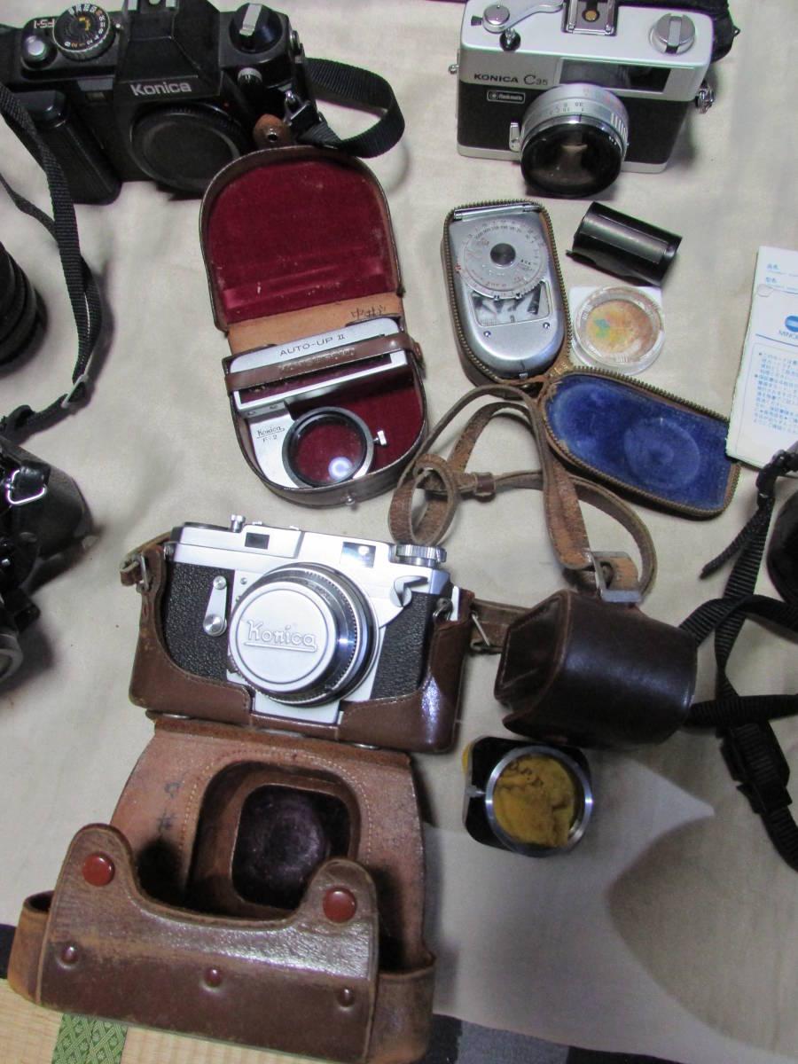 コニカ ミノルタ 一眼レフ/フィルムカメラ 色々6点 ズームレンズレンズ他備品など有り 当時物 レア?_画像2