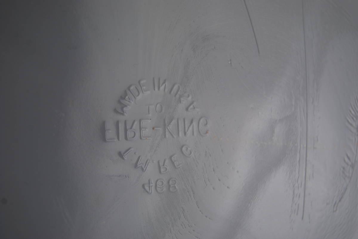 激レア・希少 ファイヤーキング ホワイト ディバイデッドキャセロール 60年代レア刻印 アンティーク食器 容器_画像3