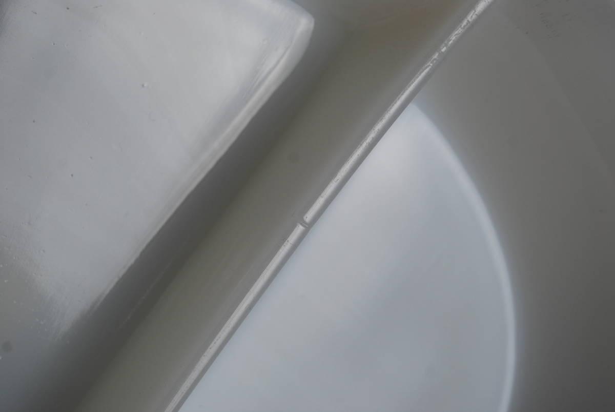 激レア・希少 ファイヤーキング ホワイト ディバイデッドキャセロール 60年代レア刻印 アンティーク食器 容器_画像9