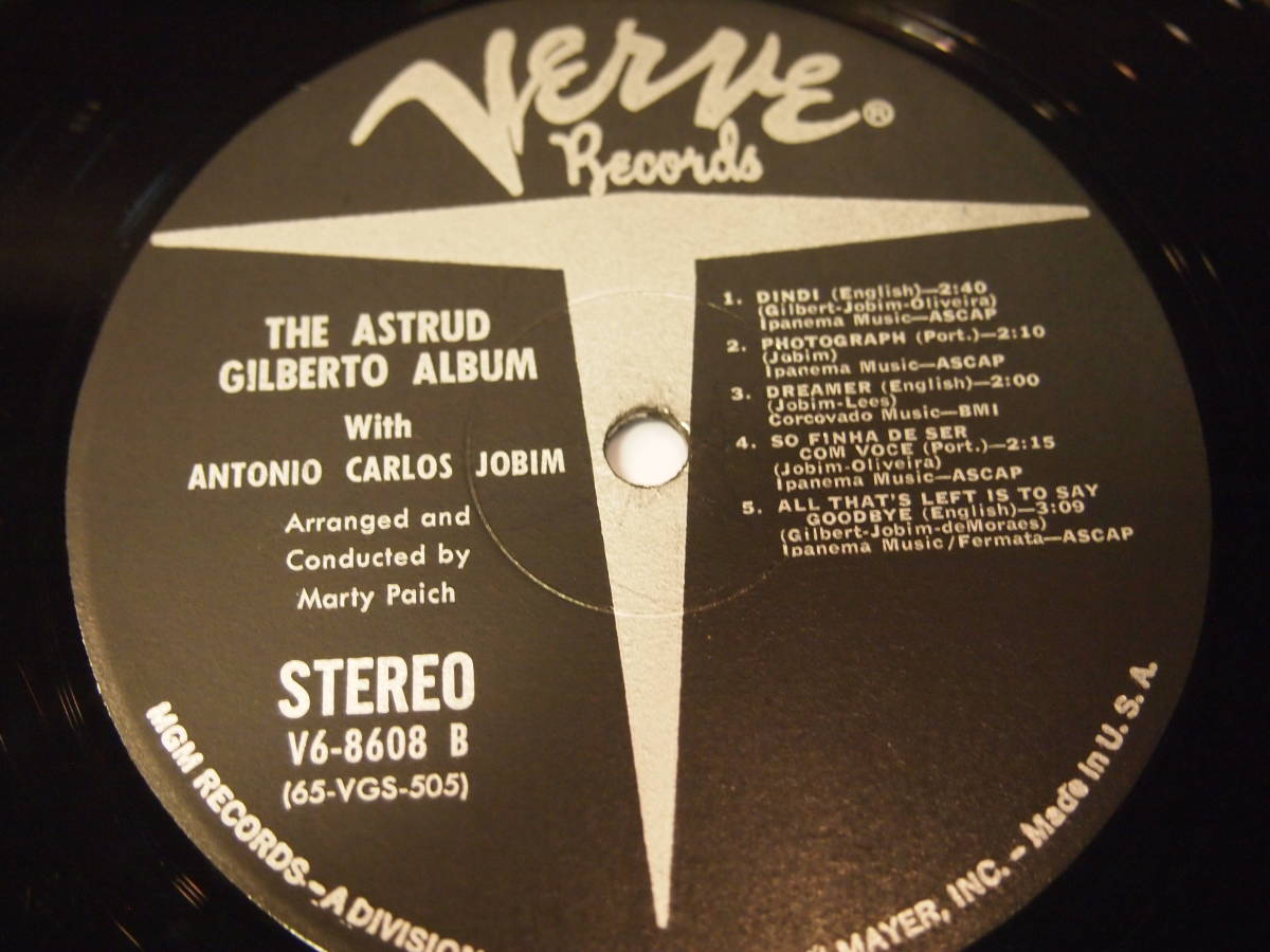 オリジナル ASTRUD GILBERTO / THE ASTRUD GILBERTO ALBUM_画像5