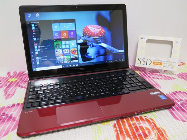 タッチ式【高速Core i5(Haswell)第4世代★爆速新SSD480GB】NEC LS550/S レッド 最新Windows10 ★ メモリ8GB Blu-ray Wi-Fi HDMI Office2016