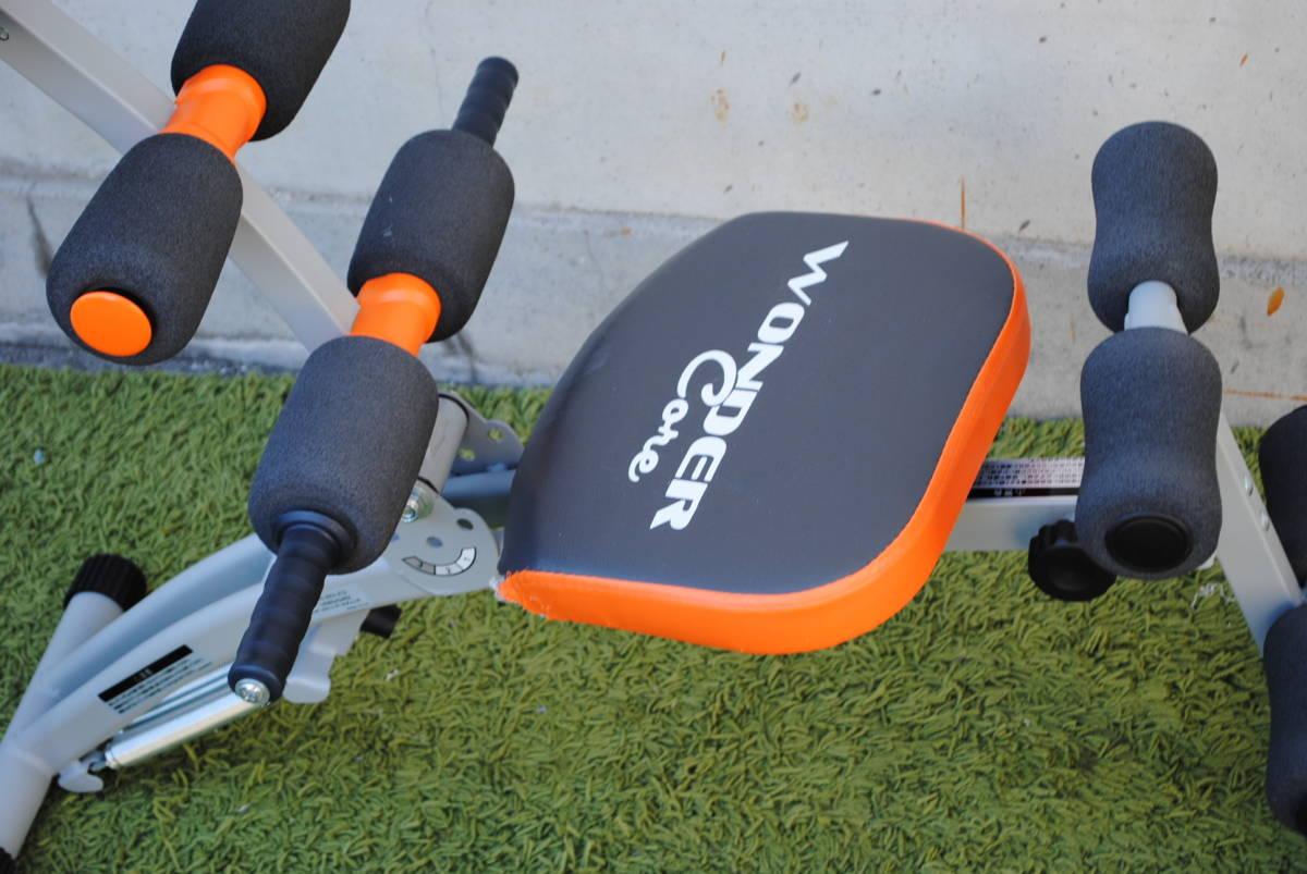 D728.ワンダーコア/オレンジ/トレーニング/筋トレ/腹筋/エクササイズ/1台で6種類の腹筋運動/クランチ/ツイスト/ストレッチ/タック等_画像3