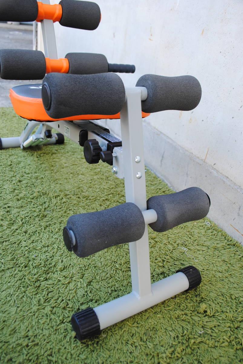 D728.ワンダーコア/オレンジ/トレーニング/筋トレ/腹筋/エクササイズ/1台で6種類の腹筋運動/クランチ/ツイスト/ストレッチ/タック等_画像9