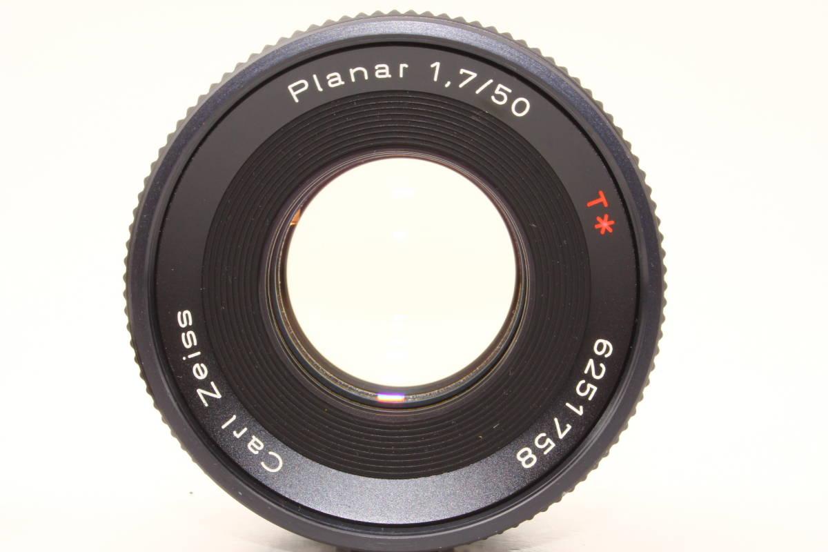 【極上】コンタックス プラナー 50mm F1.7 T* AEJ CONTAX Carl Zeiss Planar レンズ[6251758]_画像3
