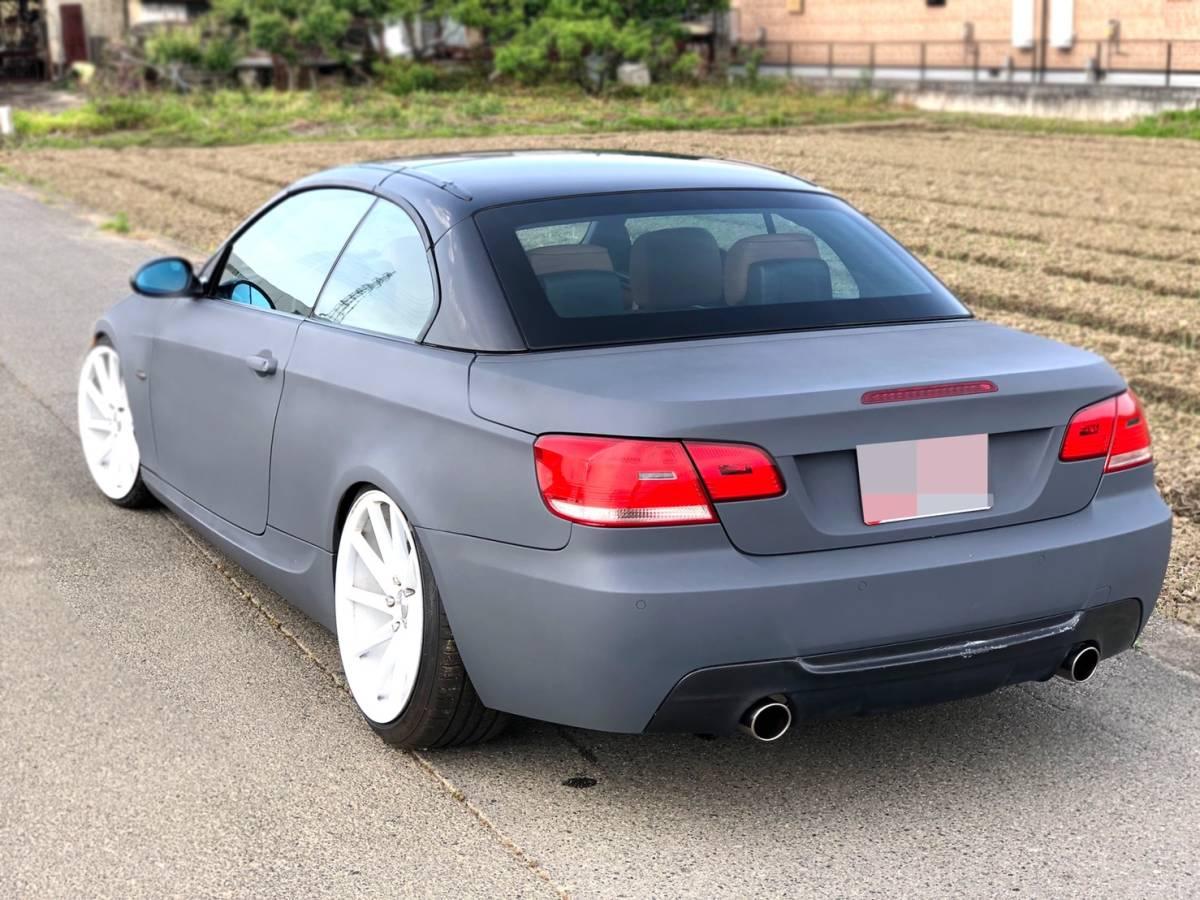 売切 BMW 335i Mスポーツ カブリオレ オープンカー 左ハンドル 走行55,000キロ 車高調 マフラー HID 20インチホイール フルカスタム_画像9