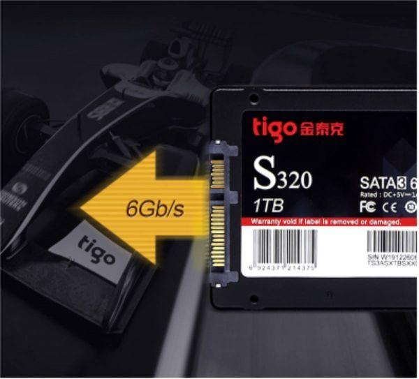 ■新品!!国内対応&90日保証■ 【2019最新型】 tigo SSD 120GB SATA3/6.0Gbps 2.5インチ 3D 高速 NAND TLC 内蔵型 S320 PC ノートPC DE009_画像3