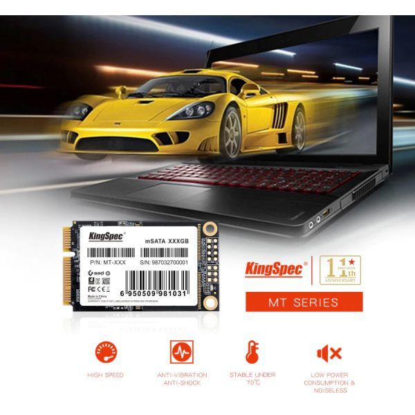 ■新品!!国内対応&90日保証■KingSpec SSD mSATA 128GB 内蔵型 MT-128 3D 高速 3D NAND TLC デスクトップPC ノートパソコン DE021_画像4