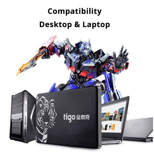 ■新品!!国内対応&90日保証■ 【2019最新型】 tigo SSD 480GB SATA3/6.0Gbps 2.5インチ 3D 高速 NAND TLC 内蔵型 S300 PC ノートPC DE010_画像8