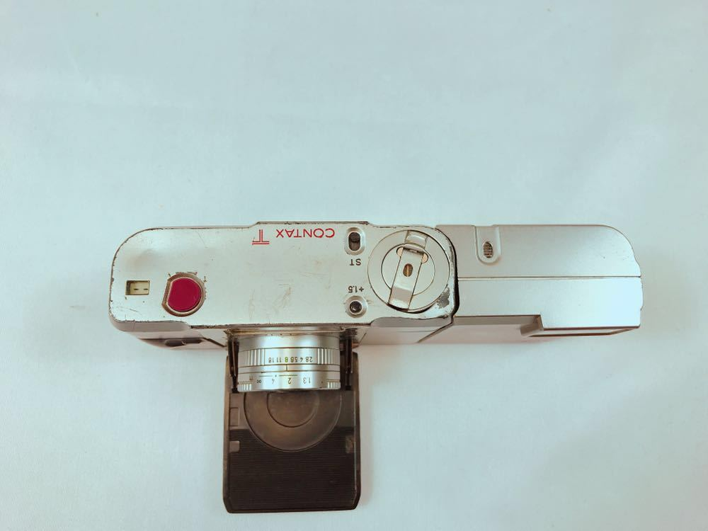 MU216 【超極上品】1円~ CONTAX/コンタックス T デジタル カメラ コンパクト フィルム レンズ sonnar 28/38 Aarl Zeiss 貴重 中古_画像4