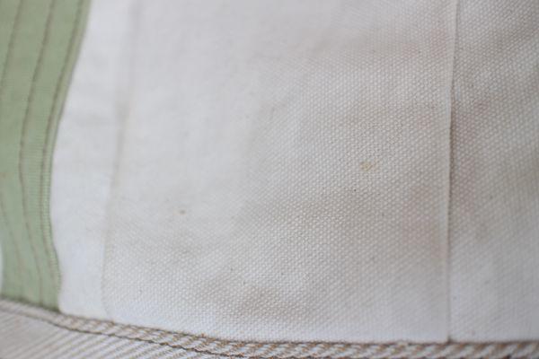 未使用 新品同様 アートディレクト 白 グリーン 茶 トートバッグ 帆布 ショルダー 2way マザーズバッグ ポケット多数 牛革使用_画像5