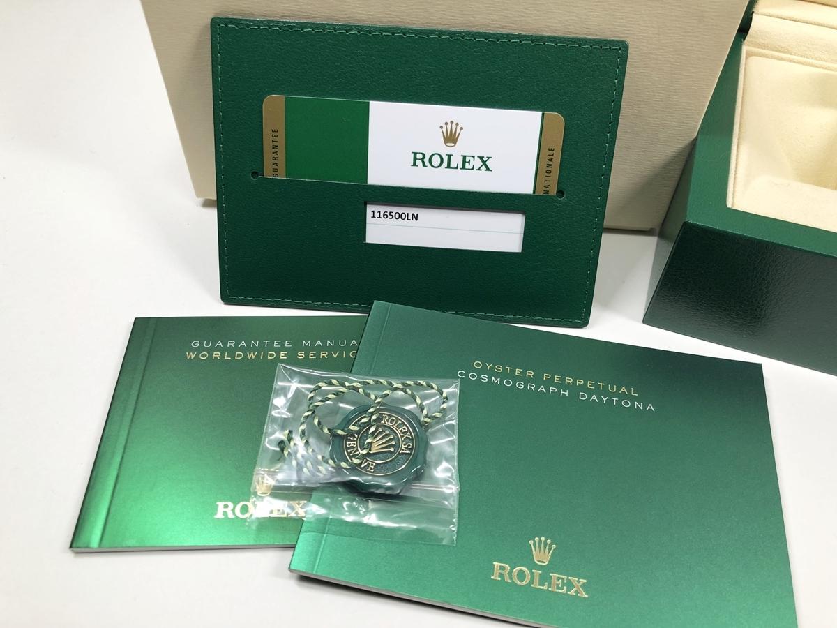 正規品 未使用 ROLEX ロレックス コスモグラフ デイトナ 116500LN 黒文字盤 2018年12月 ブラック ランダム SS 箱ギャラ 説明書冊子セット