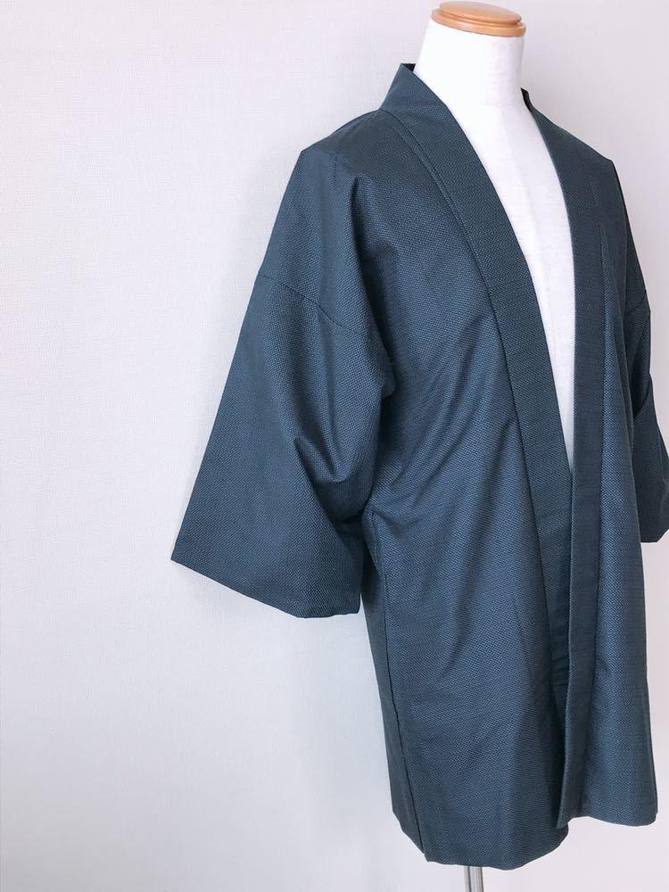【心和】着物リメイク 龍&虎カーディガン はおりもの 紺色 作務衣風 ハーフコート 和コート 和柄 メンズL~XL ハンドメイド 一点物_画像4