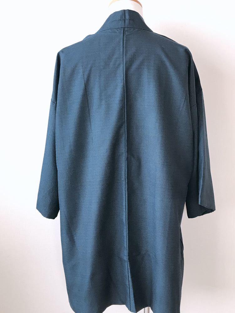 【心和】着物リメイク 龍&虎カーディガン はおりもの 紺色 作務衣風 ハーフコート 和コート 和柄 メンズL~XL ハンドメイド 一点物_画像5