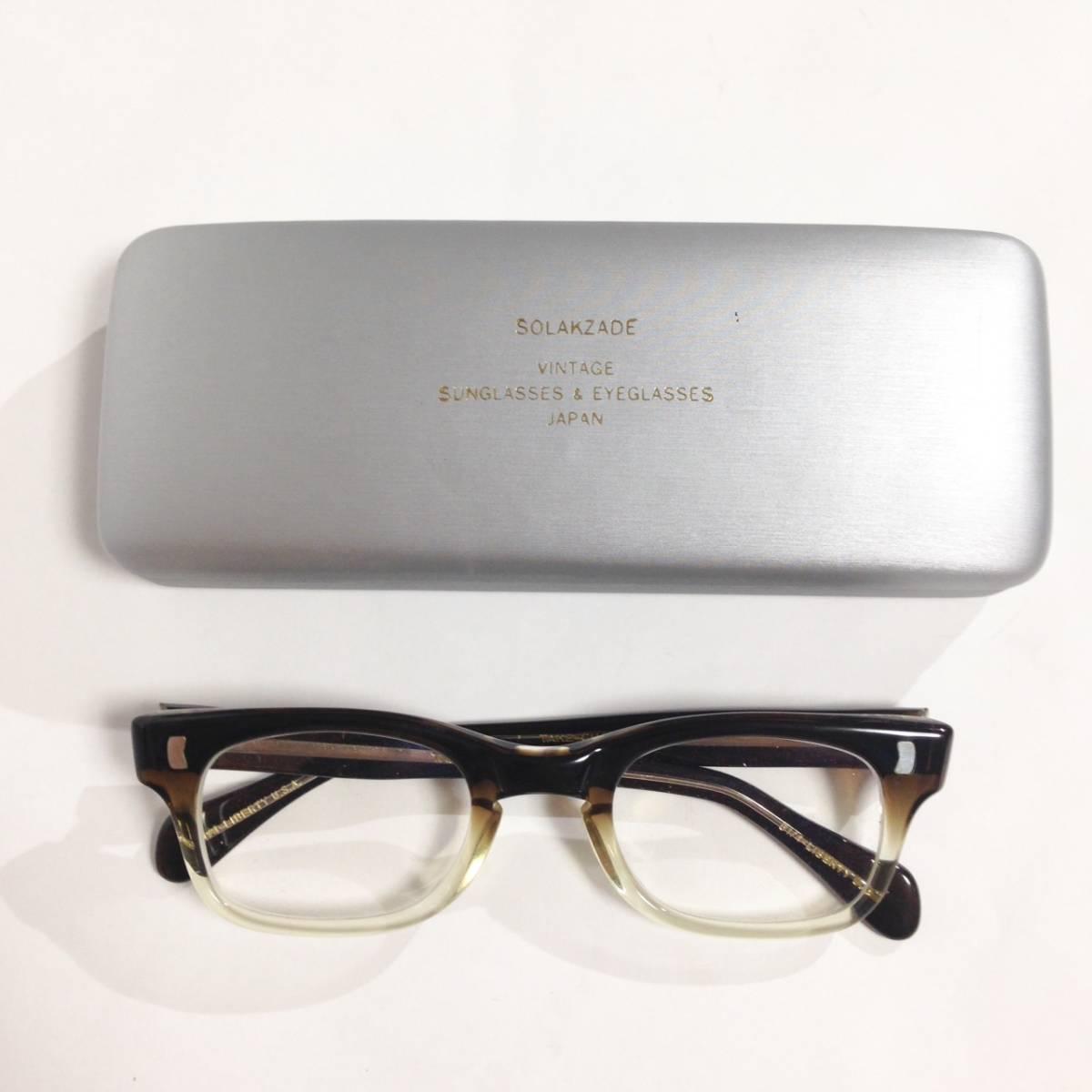 LIBERTY Optical ヴィンテージフレーム 眼鏡 中古品/リバティー オプティカル メガネ めがね ウエリントン フルリム グラデーション