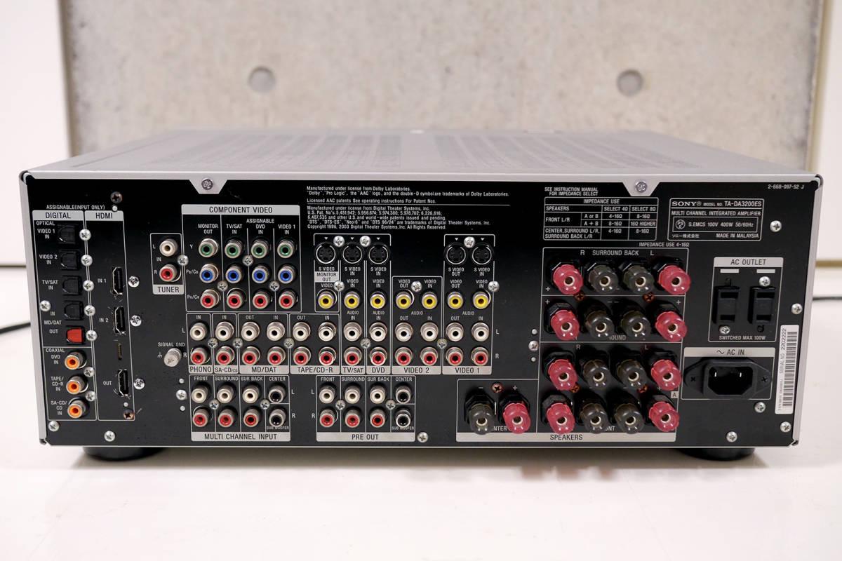 SONY TA-DA3200ES マルチチャンネルインテグレートアンプ_画像6