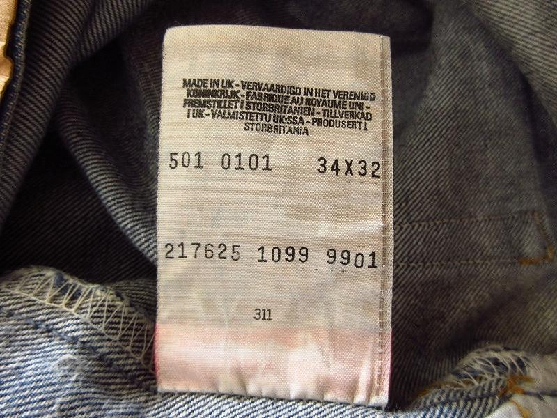 【人気】 90s オールド EURO ユーロ LEVI'S リーバイス 99年製 501 カットオフ デニム ハーフ パンツ ショーツ 大きいサイズW34 MADE IN UK_画像5